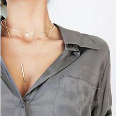 Női Rövid nyakláncok Nyaklánc medálok Ékszerek Ékszerek Réz Strassz Euramerican Bojtok Divat Személyre szabott Ékszerek MertParti