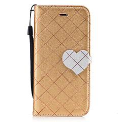 Для Чехлы панели Кошелек Бумажник для карт со стендом Флип С узором Магнитный Чехол Кейс для Один цвет Геометрический рисунок С сердцем