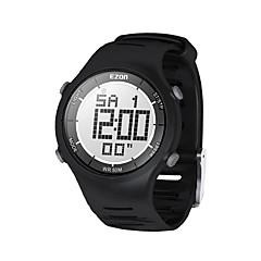 mens μόδας περιστασιακή ψηφιακά ρολόγια 30m αδιάβροχο ψηφιακή διπλή ώρα χρονόμετρο υπαίθριες αθλητικές ρολόι ezon l008