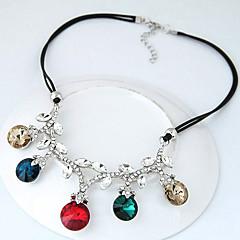 お買い得  ネックレス-女性用 ステートメントネックレス  -  ファッション, 欧米の ダークブルー, レインボー ネックレス 用途 パーティー