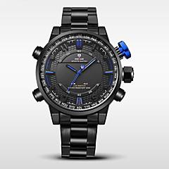 お買い得  大特価腕時計-WEIDE 男性用 スポーツウォッチ 軍用腕時計 日本産 デジタル 30 m 耐水 アラーム カレンダー ステンレス バンド アナログ/デジタル ブラック - イエロー レッド ブルー 2年 電池寿命 / 2タイムゾーン / ストップウォッチ / Maxell626 + 2025