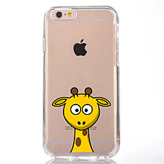 cheap iPhone 5S / SE Cases-Case For Apple iPhone 7 Plus iPhone 7 Transparent Pattern Back Cover Cartoon Soft TPU for iPhone 7 Plus iPhone 7 iPhone 6s Plus iPhone 6s