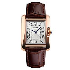preiswerte Damenuhren-Damen Quartz Armbanduhr Kalender / Wasserdicht Leder Band Elegant / Modisch Schwarz / Rot / Braun