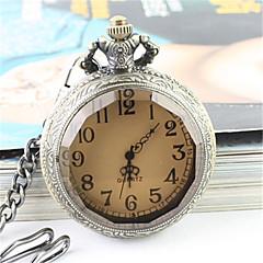 voordelige Bekijk deals-Heren Modieus horloge Polshorloge Zakhorloge Kwarts Legering Band Zilver