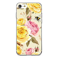 Недорогие Кейсы для iPhone 5-Кейс для Назначение Apple Ультратонкий С узором Задняя крышка Цветы Мягкий TPU для iPhone 7 Plus iPhone 7 iPhone 6s Plus iPhone 6 Plus