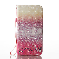 Samsung galaxy s8 plus s8 3d effect rood woestijn patroon pu materiaal portefeuille sectie telefoon hoesje voor s7 rand s7 s6 rand s6 s5