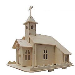 voordelige -3D-puzzels Legpuzzel Modelbouwsets Kerk (83 3D DHZ Simulatie Hout Klassiek