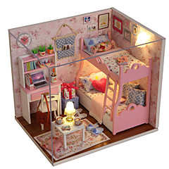 Zestaw DIY Music Box Zabawki Kwadrat Dom Drewniany Sztuk Dla obu płci Prezent