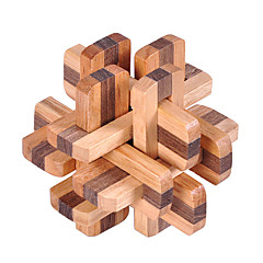 abordables Puzzles-Puzzles de Madera Rompecabezas IQ Rompecabezas Kong Ming Prueba de inteligencia De madera Unisex Chico Chica Juguet Regalo