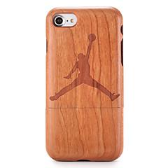 Для Чехлы панели С узором Рельефный Задняя крышка Кейс для Имитация дерева Мультяшная тематика Твердый Дерево для AppleiPhone 7 Plus
