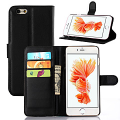The Lychee Stripe Card Holder Protects The Leather Case for The iPhone Series