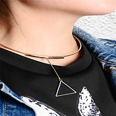 preiswerte Halsketten-Damen Dreieck Personalisiert Geometrisch Modisch Euramerican Anhängerketten Schmuck Kupfer Anhängerketten . Geschäft Alltag Normal Büro &