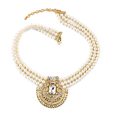preiswerte Halsketten-Damen Kristall Stränge Halskette - Personalisiert, Einzigartiges Design, Modisch Gold Modische Halsketten Für Hochzeit, Party, Herzliche Glückwünsche