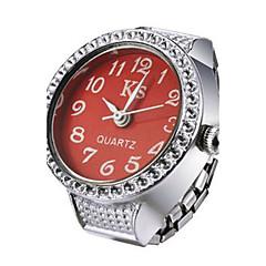 preiswerte Damenuhren-Damen Ringuhr Japanisch Quartz Armbanduhren für den Alltag Legierung Band Analog Glanz Modisch Silber - Purpur Rot Blau Ein Jahr Batterielebensdauer / SSUO LR626