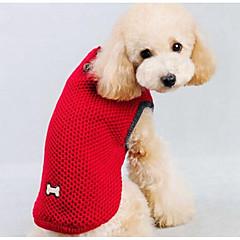 halpa Koirien vaatteet ja tarvikkeet-Koira Neulepaidat Koiran vaatteet Piirretty Tumman sininen Punainen Silkki Puuvilla Asu Lemmikit Miesten Naisten Rento/arki Muoti