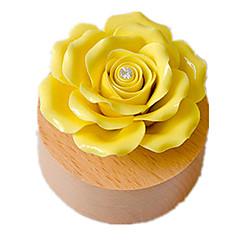 olcso -Zenedoboz Játékok Rózsák Kerámia Fa Darabok Uniszex Ajándék