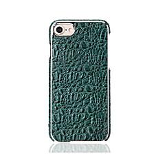Для Чехлы панели Покрытие Задняя крышка Кейс для Один цвет Твердый Натуральная кожа для Apple iPhone 7 Plus iPhone 7