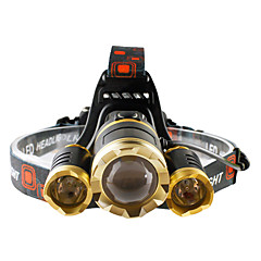 cheap -Headlamps Headlight LED 4800 lumens lm 4 Mode Cree T6 Zoomable Adjustable Focus Impact Resistant Rechargeable Waterproof Strike Bezel