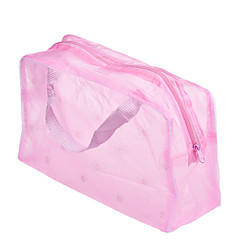 1pcsポータブル防水メイクオーガナイザー化粧品バッグカラーランダム