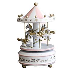 Zestaw DIY Music Box Zabawki Okrągły Konik Karuzela Sztuk Dla obu płci Urodziny Prezent
