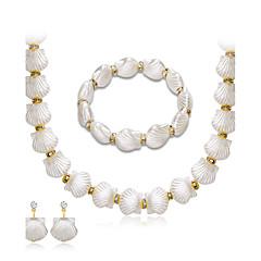Жемчужные ожерелья Мода Euramerican Жемчуг Стразы Сплав Геометрической формы 1 ожерелье 1 пара сережек 1 браслет ДляСвадьба Для вечеринок