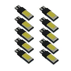 Luz interior dc9-12v del coche del canbus de la lámpara de la anchura de la mazorca 10pcs t10 w5w 6000k