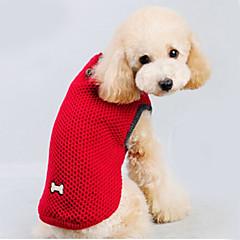 tanie Ubranka i akcesoria dla psów-Kot Pies Swetry Ubrania dla psów Jendolity kolor Czerwony Niebieski Bawełna Kostium Dla zwierząt domowych Męskie Damskie Zatrzymujący