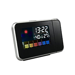 Household projection alarm clock with temperature and humidity display