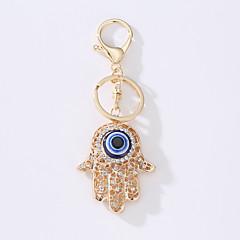 Los nuevos anillos de la llave del bolso del coche la idea turca del metal del ojo