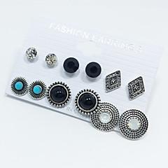 Damskie Turkusowy Rhinestone Klasyczny Multi-sposoby Wear biżuteria kostiumowa Stop Round Shape Owalne Biżuteria Na Ślub Impreza
