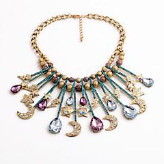 abordables Collares-Mujer Gota MOON Estrella Personalizado Diseño Único Collares Declaración Collares Declaración , Casual