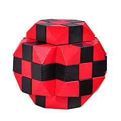abordables Puzzles-Puzzles de Madera Rompecabezas IQ Rompecabezas Luban Prueba de inteligencia De madera Unisex Chico Chica Juguet Regalo
