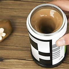1pcs film alakú önálló keverést kávéscsészék kettős szigetelésű bögre 400 ml automata elektromos kávéscsésze okos bögre keverési