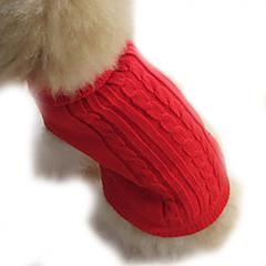 Köpek Kazaklar Köpek Giyimi Tek Renk Kahverengi Kırmzı Mavi Kostüm Evcil hayvanlar için