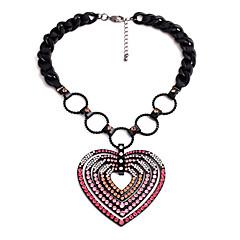 お買い得  ネックレス-女性用 ペンダントネックレス - ハート オリジナル, ユニーク ピンク ネックレス 用途 贈り物, アウトドア