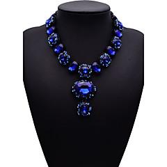 お買い得  ネックレス-女性用 ビブネックレス ペンダントネックレス  -  ファッション, 欧米の ダークブルー, レッド, ダークグリーン ネックレス 用途 パーティー, 贈り物