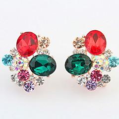 Dames Oorknopjes Druppel oorbellen Ring oorbellen Bergkristal Basisontwerp Uniek ontwerp Logostijl Bergkristallen Cirkel Vriendschap