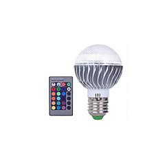 お買い得  LED 電球-3W 300lm E27 LEDボール型電球 A60(A19) 1 LEDビーズ 集積LED 調光可能 装飾用 リモコン操作 RGB 85-265V