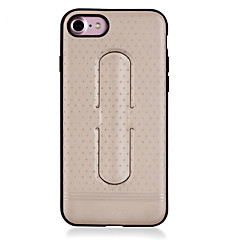 Недорогие Кейсы для iPhone 7 Plus-Кейс для Назначение iPhone 7 Plus IPhone 7 Apple со стендом Кольца-держатели Ультратонкий Кейс на заднюю панель Сплошной цвет Твердый ПК