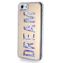 halpa iPhone 7 Plus kotelot-Etui Käyttötarkoitus Apple iPhone 7 Plus iPhone 7 Virtaava neste Peili Kuvio Takakuori Sana / lause Kimmeltävä Kova PC varten iPhone 7