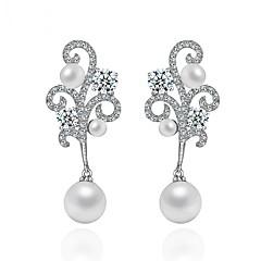 preiswerte Ohrringe-Damen Ohrring - Perle, Zirkon Einzigartiges Design, Modisch, Euramerican Silber Für Hochzeit / Geburtstag / Party