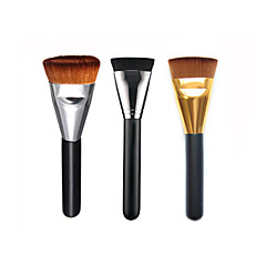 1PC Professional Makeup Brush Flat Long Soft Contour Foundation Blush Brush Synthetic Hair Face Cosmetics Beauty Tools 3 Color Y6