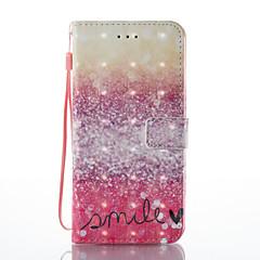 iPhone 7 plus 7 3D hatás vörös sivatagi mintás PU anyagból pénztárca részén telefon esetében 6 plusz 6s 5 se