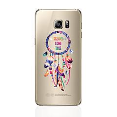 Χαμηλού Κόστους Galaxy S6 Θήκες / Καλύμματα-tok Για Samsung Galaxy S8 Plus S8 Διαφανής Με σχέδια Πίσω Κάλυμμα Φτερά Μαλακή TPU για S8 Plus S8 S7 edge S7 S6 edge plus S6 edge S6 S5 S4