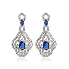 preiswerte Ohrringe-Damen Ohrring - Zirkon Zierlich, Einzigartiges Design, Modisch Rot / Blau Für Hochzeit Geburtstag Party