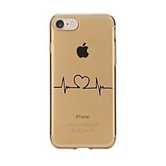 Kompatibilitás iPhone X iPhone 8 tokok Átlátszó Minta Hátlap Case Szív Puha Hőre lágyuló poliuretán mert Apple iPhone X iPhone 8 Plus