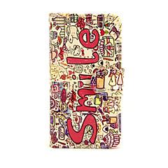Недорогие Кейсы для iPhone 5-Кейс для Назначение Apple iPhone 7 Plus iPhone 7 Бумажник для карт Кошелек со стендом Флип Чехол Слова / выражения Твердый Кожа PU для