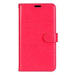 For samsung galaxy a3 a5 (2017) pokrowiec na klasyczne trzy karty solidny kolorowy materiał pu skóra portfel telefon komórkowy case a7