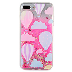 billige Etuier til iPhone 6s-Etui Til Apple iPhone 7 Plus iPhone 7 Flydende væske Mønster Bagcover Glitterskin Ballon Hårdt PC for iPhone 7 Plus iPhone 7 iPhone 6s