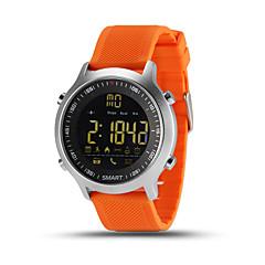 preiswerte Tolle Angebote auf Uhren-Herrn Smartwatch Chinesisch Herzschlagmonitor / Kalender / Chronograph Silikon Band Charme Mehrfarbig / Wasserdicht / Fernbedienungskontrolle / Schrittzähler / Tachometer / Fitness Tracker